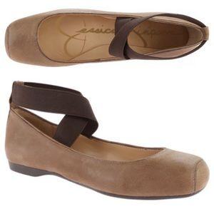 Jessica Simpson Ballet Flat Ankle Strap Mandalaye